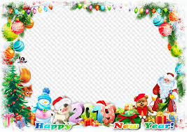 happy new year frame psd png 2019