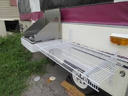removable shelf on outside of the camper so you don t have to pack a