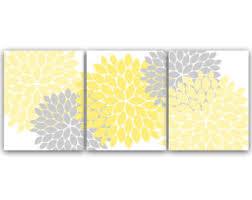 home decor wall art yellow and gray flower burst art canvas prints bathroom wall decor yellow bedroom decor nursery wall art home37 on yellow and grey wall art canvas with yellow and gray etsy