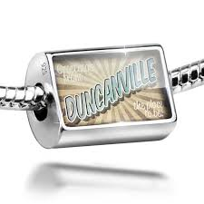 Neonblond Bead Greetings From Duncanville Vintage Postcard Charm