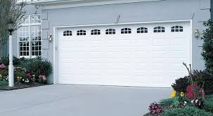 cascade garage doorGarage Door  Traditional Short Panel with Cascade Windows White
