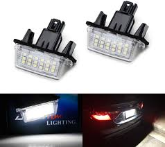 Toyota Camry License Plate Light Replacement Ijdmtoy Oem Fit 3w Full Led License Plate Light Kit Compatible With Toyota Camry Highlander Prius C Avalon Yaris Powered By 18 Smd Xenon White Led