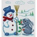 Детская вышивка снеговик