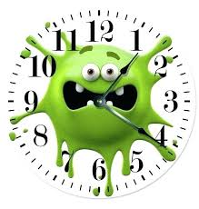 novelty clocks wall clock monster green smiley large inch unique australia novelty clocks