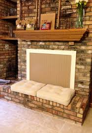 fireplace fashion cover and pillows create extra seating