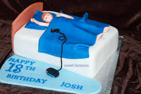 Happy Birthday Man In Cake Brithday Cake