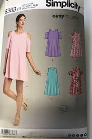 Simplicity Patterns On Sale Fascinating Sharon Sews Simplicity 48 Knit Floral Trapeze Dress