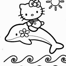 Hello Kitty Coloring Pages For Kids Hello Summer Page Adult