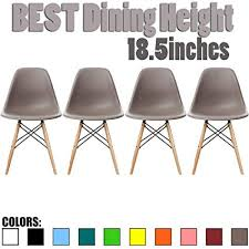 2xhome set of 4 gray mid country modern molded s designer emble plastic chair side no