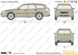 The-Blueprints.com - Vector Drawing - Subaru Outback
