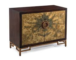 limited ion design stock statement piece galaxy art deco cabinet aged gold reverse painted glass front macassar ebony case h 32 l 40 d 19