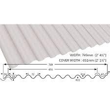 white corrugated sheet