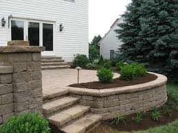 paver patios with lighting raised patio seat wall landscape planting and raised patio landscaping46 patio