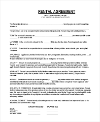 Mobile Home Rental Contract Printable Examples Sample Contracts Templates 7