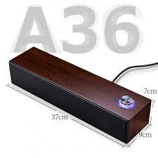 Loa bluetooth A36, loa để bàn vỏ vân gỗ sang trọng, có thể kết nối bằng  bluetooth hoặc dây 3.5mm, âm Bass mạnh mẽ- Hàng nhập khẩu - Loa Bluetooth  Thương hiệu