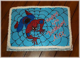 Spiderman Cake Fbct Full Sheet Cake 12 Choc 12 Yellow Butter