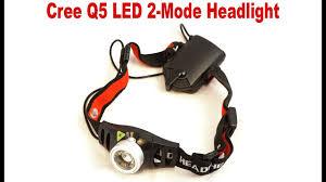 Обзор налобного фонарика <b>Cree</b> Q5 LED 2-Mode Headlight ...
