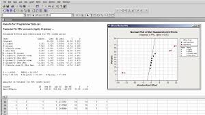 3 Level Fractional Factorial Design Minitab Analyzing A Single Replicate Of A 2k Experiment With Minitab