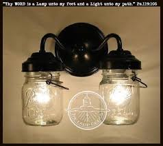 mason jar lighting fixture. canning jar wall light double vintage pints the lamp goods mason lighting fixture