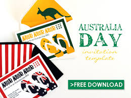 Free Party Invites Templates Free Australia Day Party Invitation Template