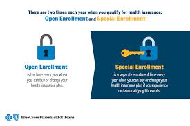 open enrollment versus special enrollment