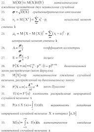 Список основных формул теории вероятностей Страница  Список основных формул теории вероятностей
