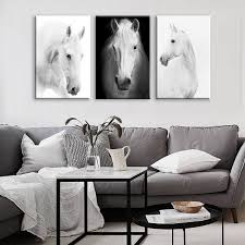 photography wall art home decor white horse wall art canvas prints modern art home decor for
