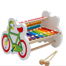 Young Children Boys And Girls Puzzle Music Toys 6-8-10 Months Baby Eight Sound Wood Piano 1-2-3 Years Old Educational Unisex 6 8 10