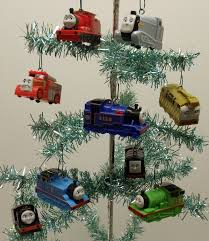 thomas the train 9 piece holiday christmas tree ornament set featuring thomas hiro james percy belle spencer and other engine friends ranging from 3