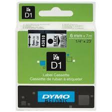 <b>Картридж</b> для принтеров этикеток <b>Dymo D1</b>, 6 мм х 7 м, лента ...