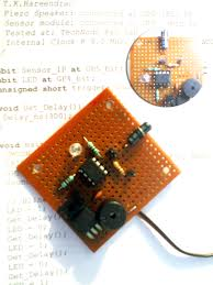vibration sensor alarm vibration alarm prototype