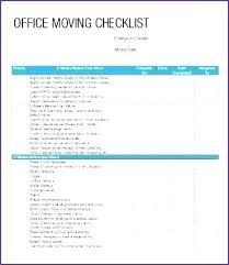 Office Medical Practice Relocation Checklist Moving Template