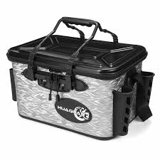 Live Bait Tank Light 28l Waterproof Fishing Live Bait Cooler Insulated Dry Box Foldable With Air Pump Shoulder Strap