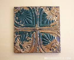 green gold tin ceiling tile on vintage ceiling tile wall art with repurposed vintage tin ceiling wall decor robb restyle