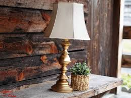Diy Rubbed Gold Thrift Store Lamp Makeover Rub N Buff Tutorial