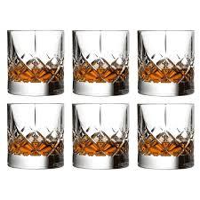 urban bar ginza cut crystal old fashioned whiskey rocks glasses 10 oz set of 6