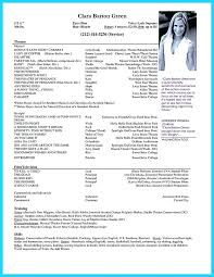 How To Write A Theatre Resume Elegant For In Examples College