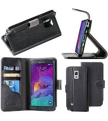 samsung galaxy note 4 leather book folio wallet case