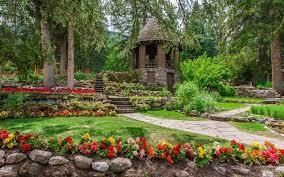 cascade gardens banff park wallpaper