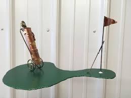 golf art metal art golf sculpture