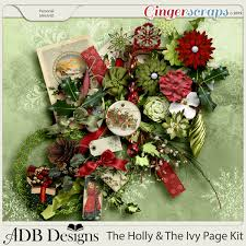 GingerScraps :: Kits :: The Holly and The Ivy Page Kit by ADB Designs
