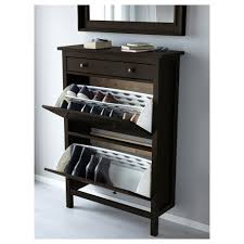 narrow shoe storage cupboard long skinny rack tallin bench ideas hemnes cabinet with partments white ikea