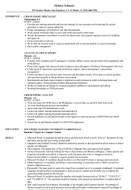 Crm Resume CRM Support Resume Samples Velvet Jobs 1