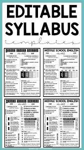 Meet The Teacher Editable And Syllabus Templates Editable