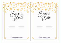 Luxury Figure Of Free Save The Date Party Templates For Word