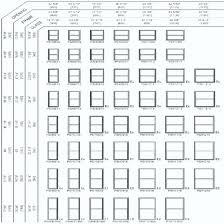 Andersen Fixed Window Size Chart Jeld Wen Window Sizes Chart Infinicom Co