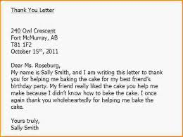 writing thank you letters thankyou letter