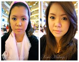 korean makeup before and after
