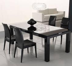 rossetto diamond black glass dining table ideas
