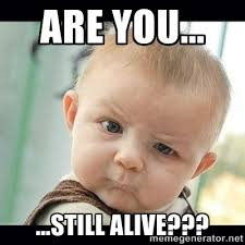 are you... ...still alive??? - Skeptical Baby Whaa? | Meme Generator via Relatably.com